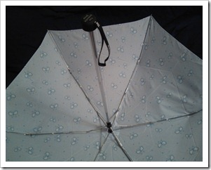Blue Butterfly Umbrella