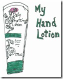 Before I put hand lotion on, I decided to draw it.