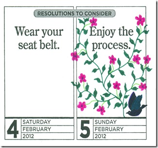 Embellished Enjoy the Process Calendar Page