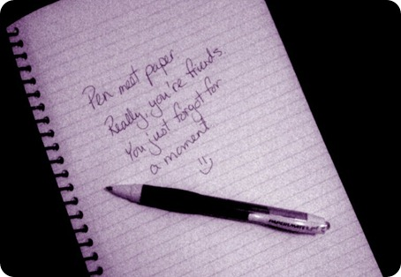Pen meet paper - purple