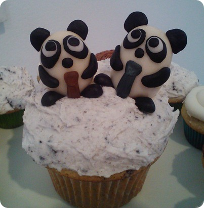 Chris & Hunter Panda Cake Toppers