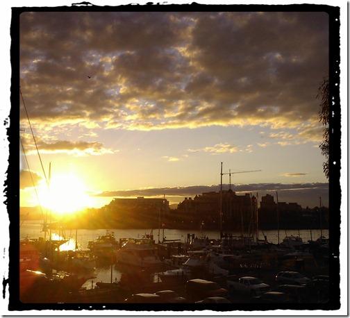 Setting Sun - Victoria Inner Harbour