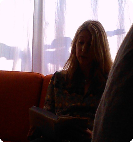 Susannah's book reading