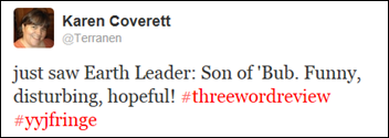 Earth Leader Three Word Tweet