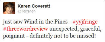 Wind in the Pines Three Word Review Tweet