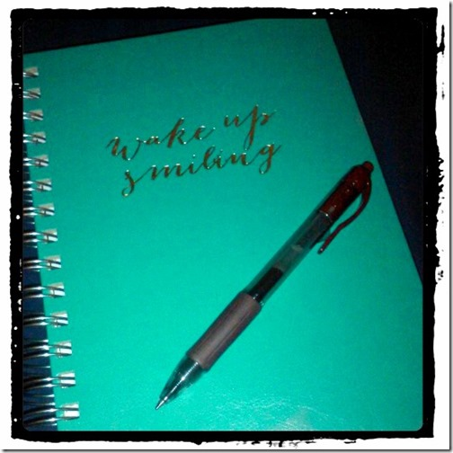 Wake Up Smiling Journal